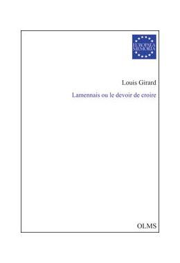 Abbildung von Girard   Lamennais ou le devoir de croire   2010   2010   74