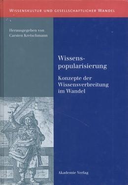 Abbildung von Kretschmann   Wissenspopularisierung   2003   Konzepte der Wissensverbreitun...