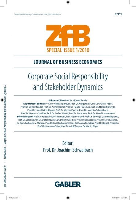Corporate Social Responsibility and Stakeholder Dynamics | Schwalbach, 2010 | Buch (Cover)