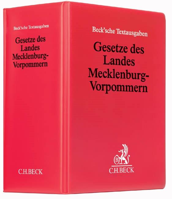 Abbildung von Gesetze des Landes Mecklenburg-Vorpommern   67. Auflage   2019