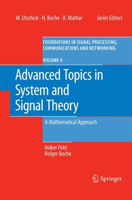 Abbildung von Pohl / Boche | Advanced Topics in System and Signal Theory | 2009 | A Mathematical Approach | 4