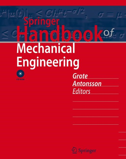 Abbildung von Grote / Antonsson | Springer Handbook of Mechanical Engineering | 2009