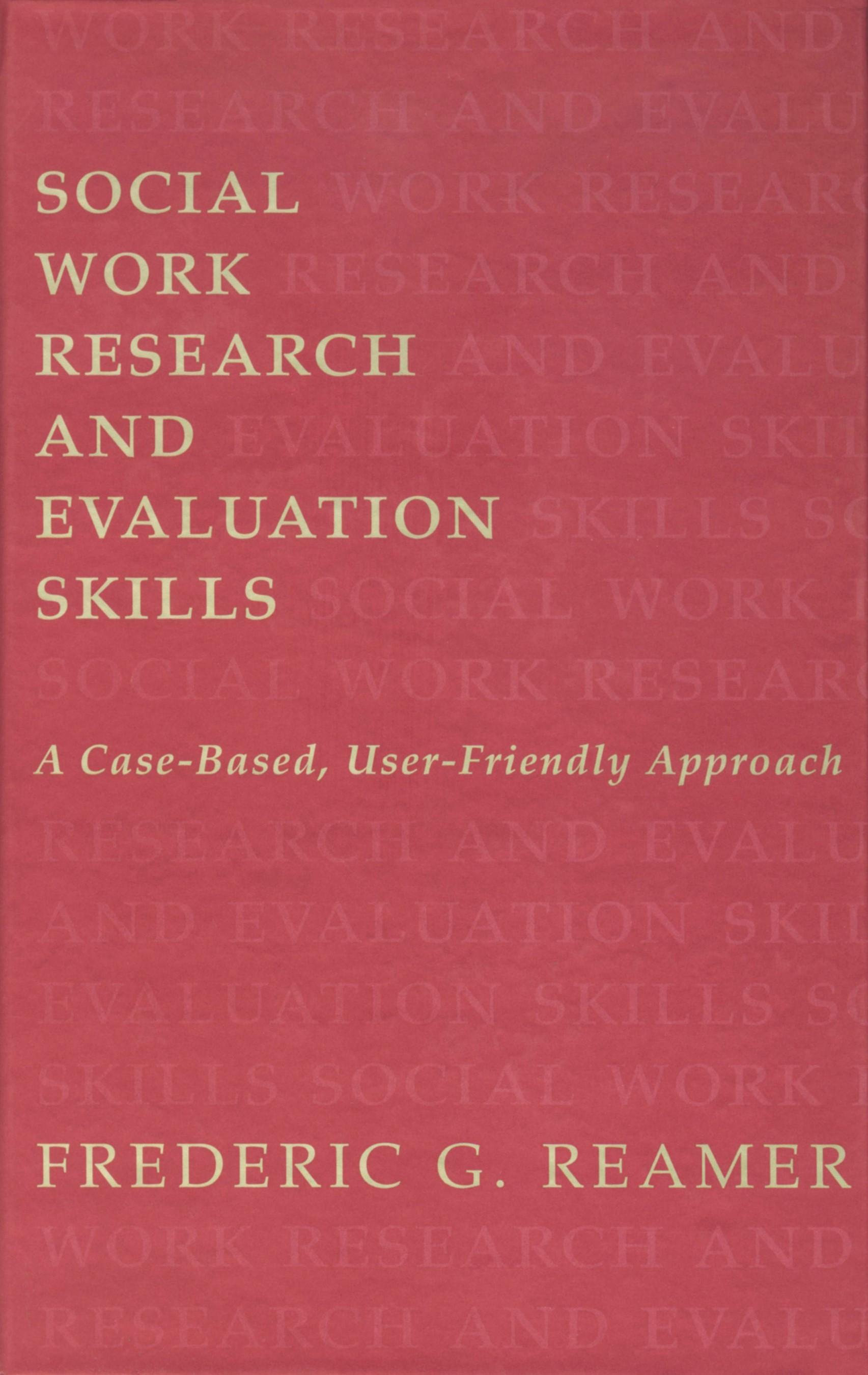 Abbildung von Reamer   Social Work Research and Evaluation   1998