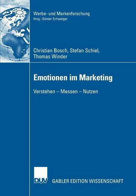 Emotionen im Marketing | Bosch / Schiel / Winder, 2006 | Buch (Cover)