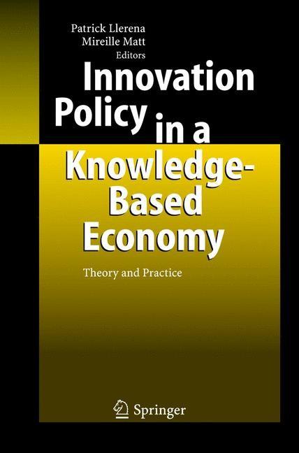 Abbildung von Llerena / Matt | Innovation Policy in a Knowledge-Based Economy | 2005