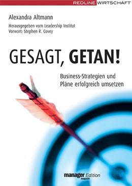 Abbildung von Altmann   Gesagt, getan!   2006   Business-Strategien und Pläne ...
