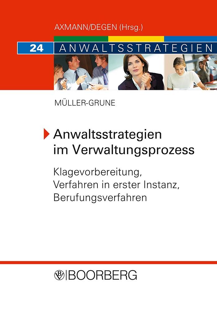 Anwaltsstrategien im Verwaltungsprozess   Müller-Grune, 2008   Buch (Cover)