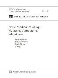 Neue Medien im Alltag: Nutzung, Vernetzung, Interaktion | Keitel / Boehnke / Wenz, 2003 | Buch (Cover)