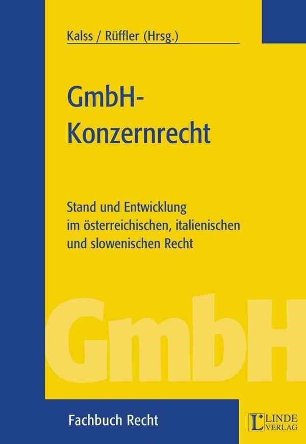 GmbH-Konzernrecht | Kalss / Rüffler, LL.M. | 2003, 2003 | Buch (Cover)