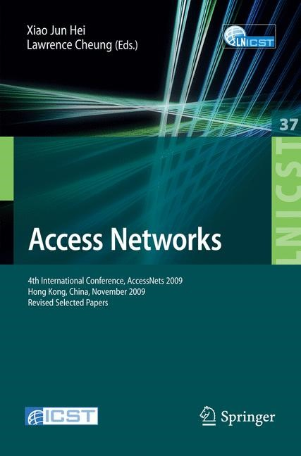 Access Networks | Jun Hei / Cheung | 1st Edition., 2010 | Buch (Cover)