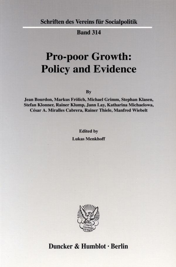 Abbildung von Menkhoff | Pro-poor Growth: Policy and Evidence. | 2006
