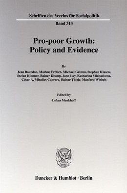 Abbildung von Menkhoff | Pro-poor Growth: Policy and Evidence. | 2006 | 314