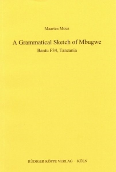 A Sketch of Mbugwe | Mous, 2004 (Cover)