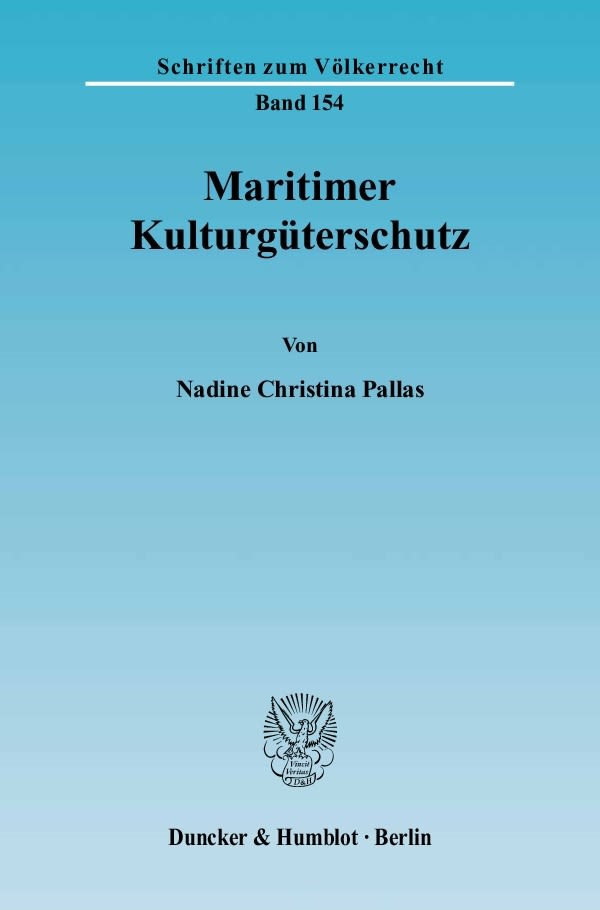 Abbildung von Pallas   Maritimer Kulturgüterschutz.   2004