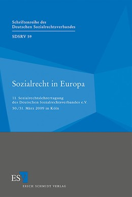 Abbildung von Sozialrecht in Europa   2010   11. Sozialrechtslehrertagung d...   59