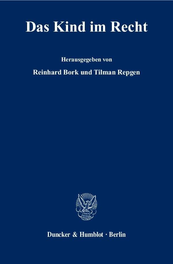 Das Kind im Recht | Bork / Repgen, 2009 | Buch (Cover)