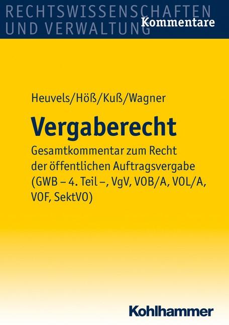 Vergaberecht | Heuvels / Höß / Kuß / Wagner (Hrsg.), 2012 | Buch (Cover)