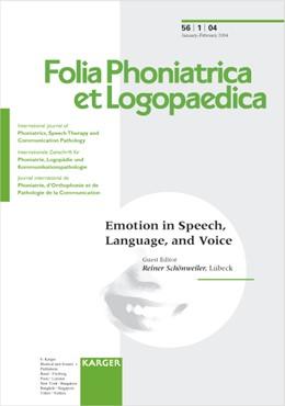 Abbildung von Schönweiler | Emotion in Speech, Language, and Voice | 2004 | 73rd Congress of the Deutsche ...