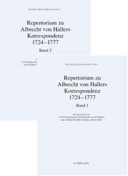 Albrecht von Hallers Korrespondenz 1724 -1777 | Boschung / Braun-Bucher / Hächler / Ott / Steinke / Stuber, 2002 | Buch (Cover)