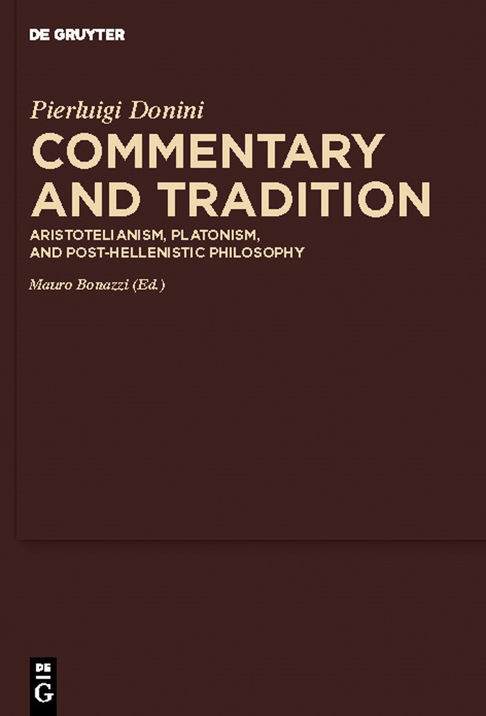 Abbildung von Donini / Bonazzi / Sharples | Commentary and Tradition | 2010
