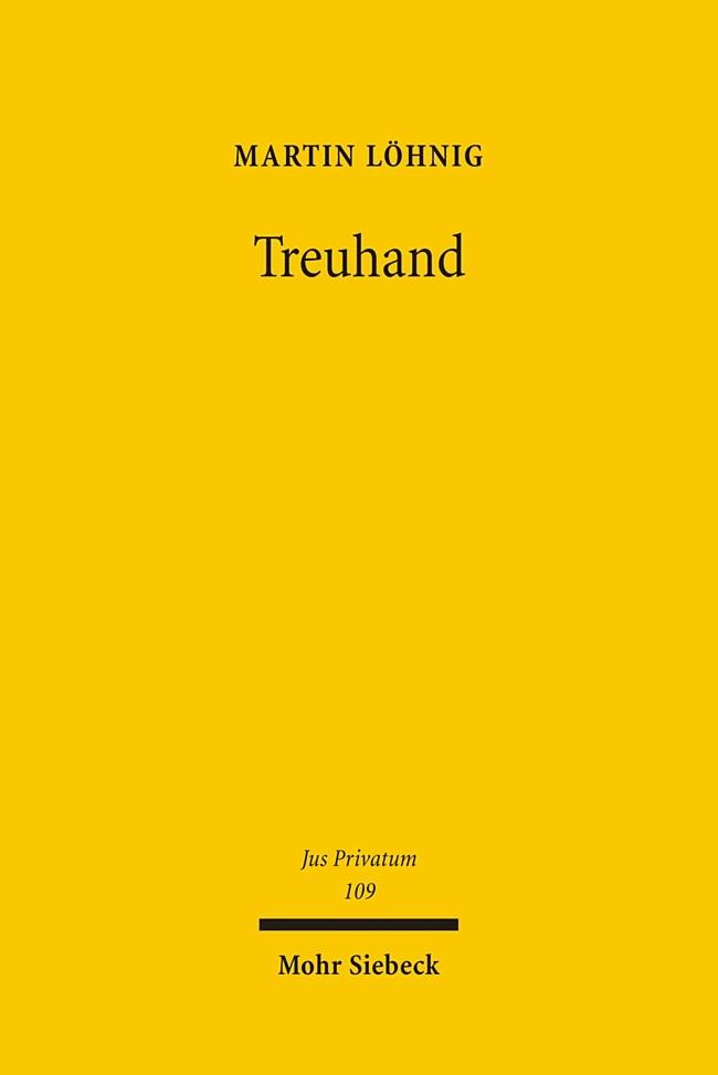 Treuhand | Löhnig | 1., Aufl., 2006 | Buch (Cover)