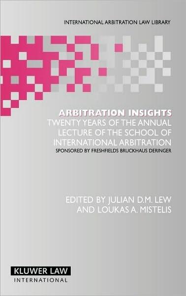 Abbildung von Lew / Mistelis | Arbitration Insights | 2006
