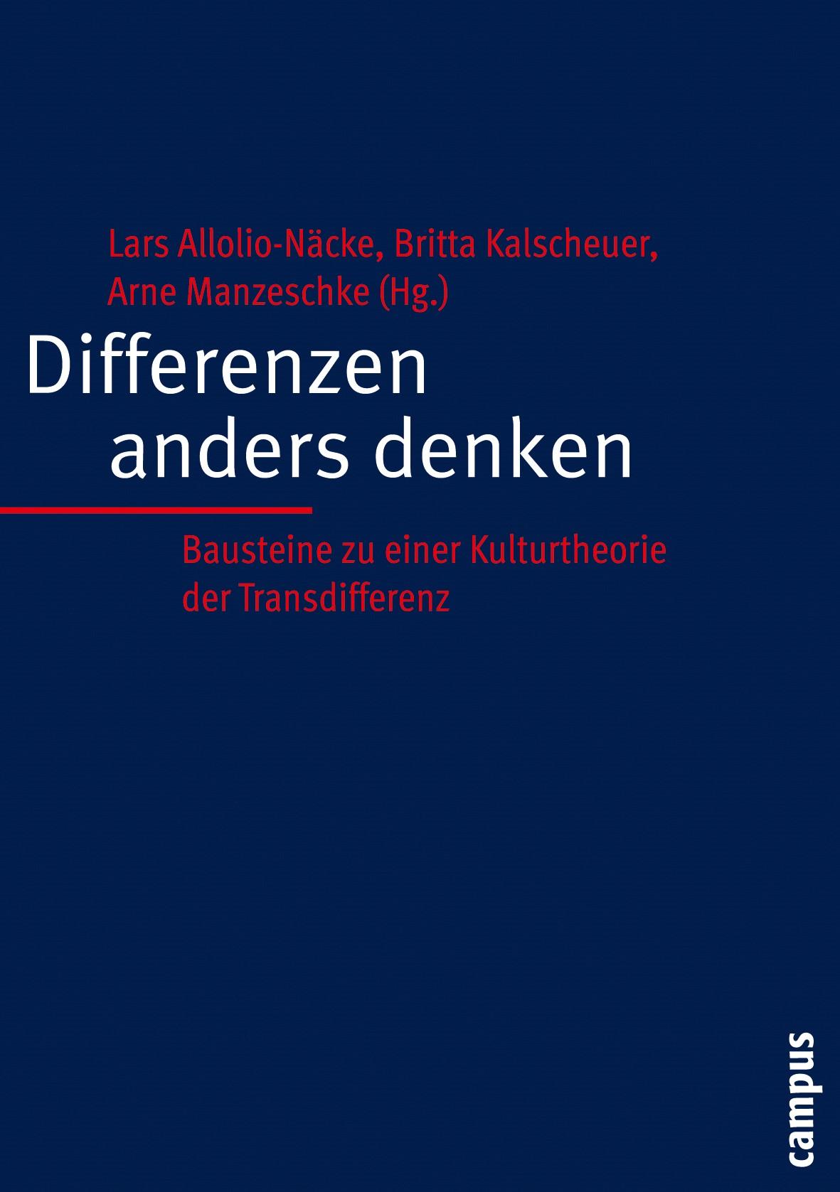 Abbildung von Allolio-Näcke / Kalscheuer / Manzeschke | Differenzen anders denken | 2005