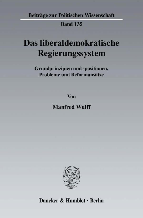 Abbildung von Wulff | Das liberaldemokratische Regierungssystem | 2004