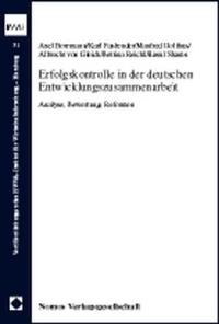 Erfolgskontrolle in der deutschen Entwicklungszusammenarbeit | Borrmann / Fasbender / Holthus, 1999 | Buch (Cover)