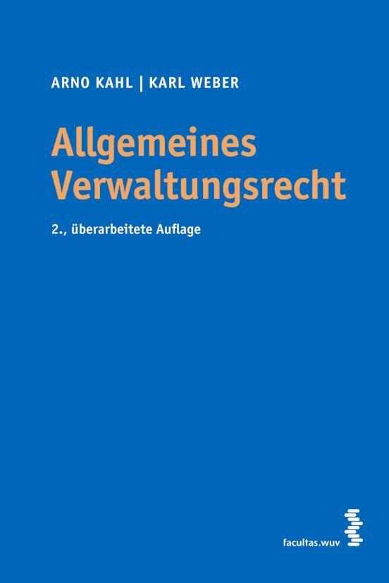 Allgemeines Verwaltungsrecht | Kahl / Weber, 2008 | Buch (Cover)