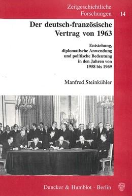 Abbildung von Steinkühler   Der deutsch-französische Vertrag von 1963.   2002   Entstehung, diplomatische Anwe...   14