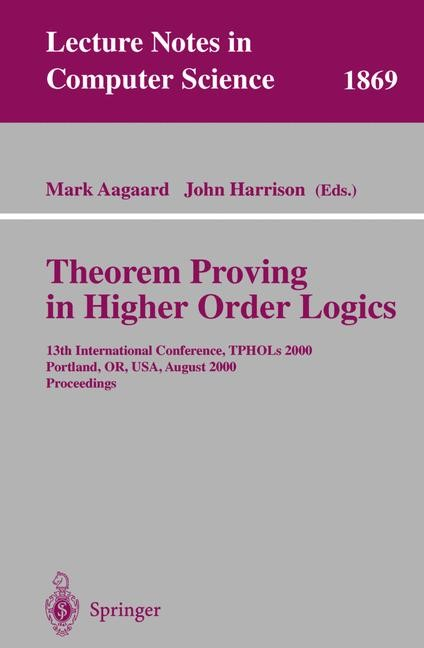 Theorem Proving in Higher Order Logics | Aagaard / Harrison, 2000 | Buch (Cover)