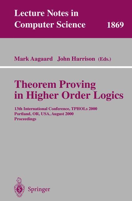 Abbildung von Aagaard / Harrison | Theorem Proving in Higher Order Logics | 2000