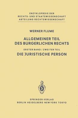 Abbildung von Flume | Allgemeiner Teil des Bürgerlichen Rechts | 1983 | Zweiter Teil Die juristische P...