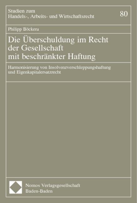 Abbildung von Böcker | Die Überschuldung im Recht der Gesellschaft mit beschränkter Haftung | 2002