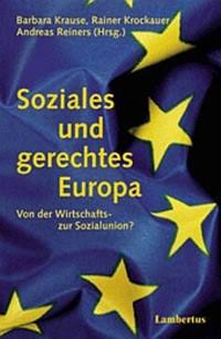 Soziales und gerechtes Europa | Krause / Reiners / Krockauer, 2001 | Buch (Cover)