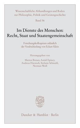 Abbildung von Breuer / Epiney   Im Dienste des Menschen: Recht, Staat und Staatengemeinschaft   1. Auflage   2009   56   beck-shop.de
