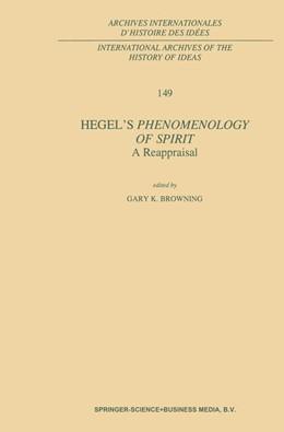 Abbildung von Browning | Hegel's Phenomenology of Spirit: A Reappraisal | 1997 | 149