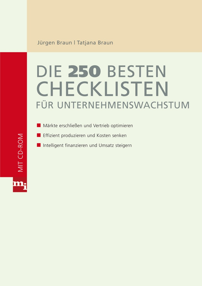 Die 250 besten Checklisten für Unternehmenswachstum | Braun, 2009 | Buch (Cover)