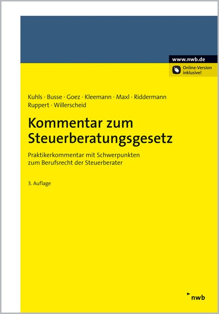 Steuerberatungsgesetz | Kuhls u.a. | 3. Auflage, 2011 | Buch (Cover)