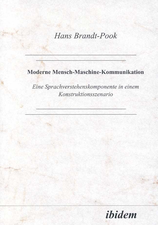 Moderne Mensch-Maschine-Kommunikation | Brandt-Pook, 1999 | Buch (Cover)