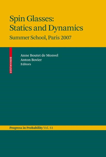 Spin Glasses: Statics and Dynamics | Boutet de Monvel / Bovier, 2009 | Buch (Cover)