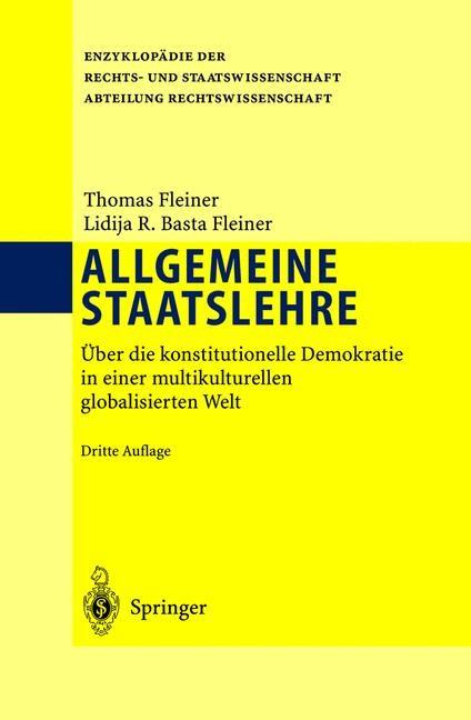 Abbildung von Fleiner / Basta Fleiner | Allgemeine Staatslehre | 3., vollst. überarb. u. erw. Aufl. | 2003