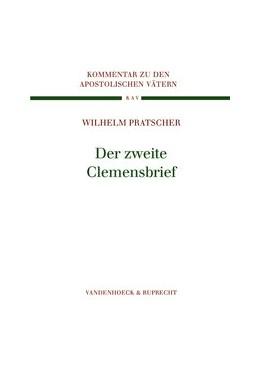 Abbildung von Pratscher   Der zweite Clemensbrief   2006   Band 003