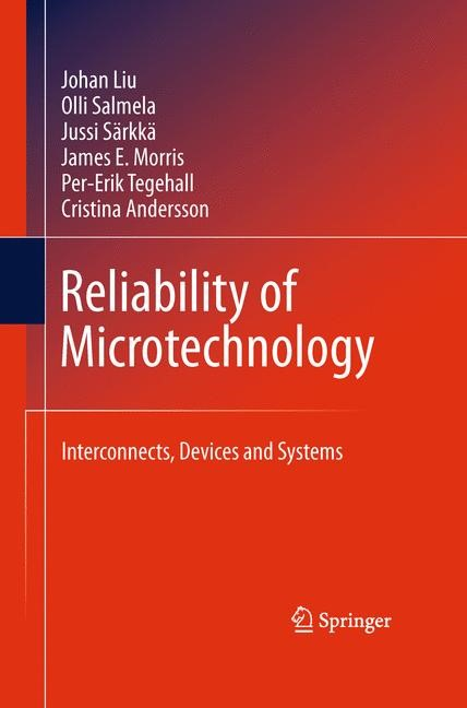 Reliability of Microtechnology | Liu / Salmela / Sarkka, 2011 | Buch (Cover)