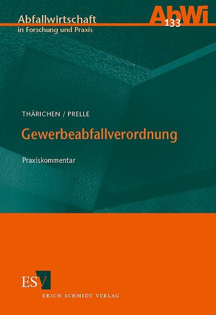 Gewerbeabfallverordnung | Thärichen / Prelle, 2006 | Buch (Cover)