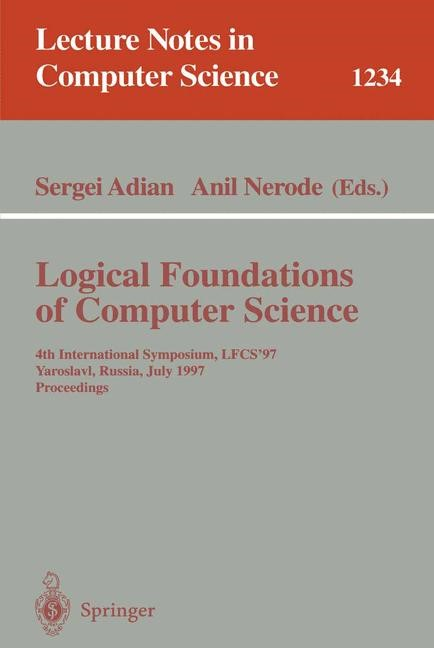 Logical Foundations of Computer Science | Adian / Nerode, 1997 | Buch (Cover)