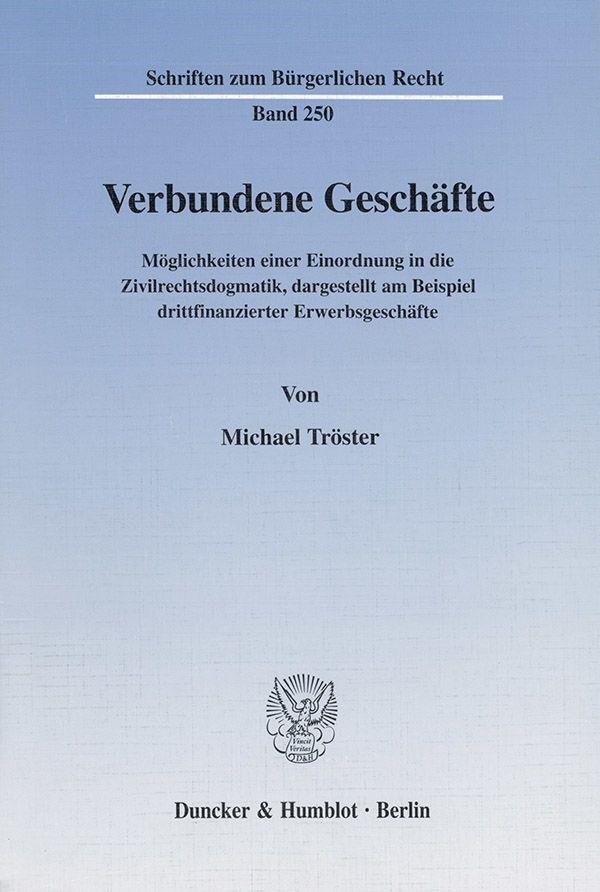 Abbildung von Tröster | Verbundene Geschäfte. | 2001