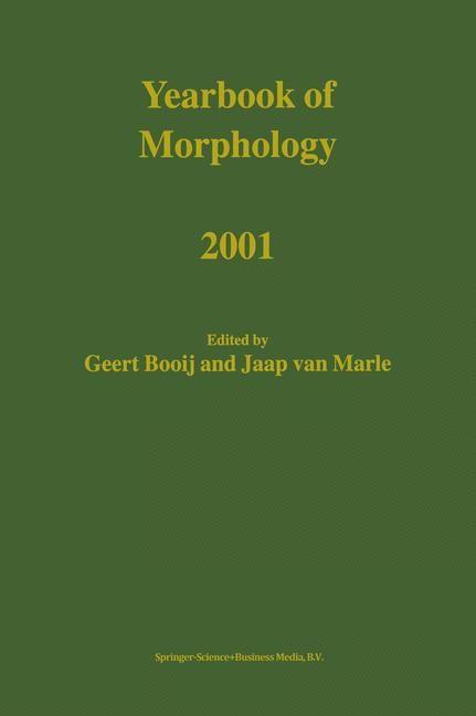 Yearbook of Morphology 2001 | Booij / van Marle, 2002 | Buch (Cover)