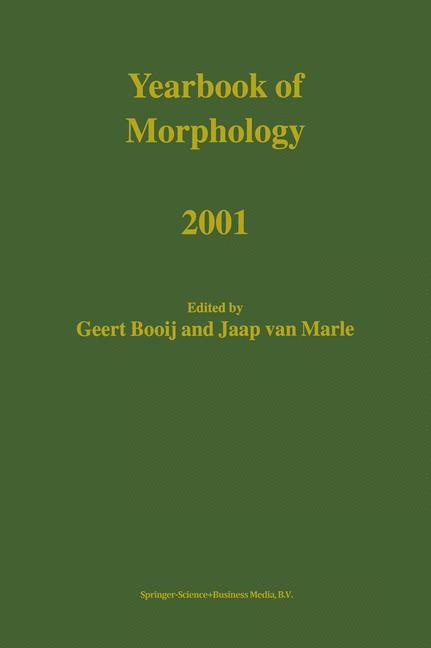 Abbildung von Booij / van Marle | Yearbook of Morphology 2001 | 2002